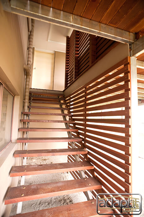 New stairs with horizontal screen