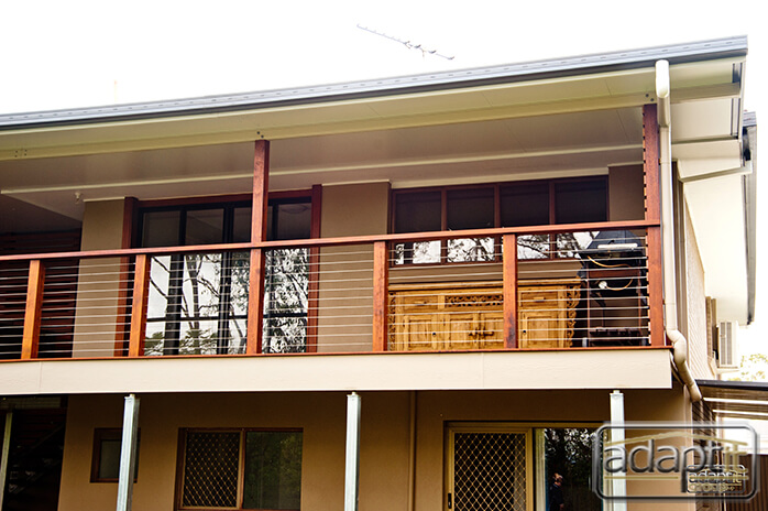 Patio and Balustrade with stainless wire