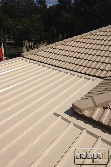 Overhead photo of Insulated roof panels