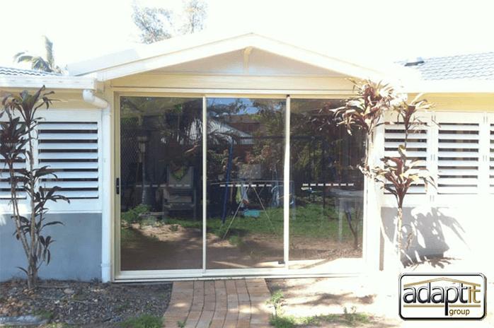 patio with sliding doors