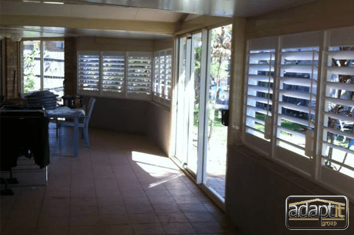 patio with shutters brisbane