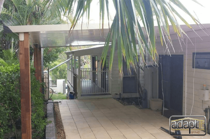 Huge Timber Posts look awesome on this Cooldek Patio