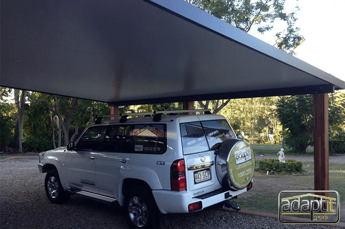 carport in brisbane region with 4wd