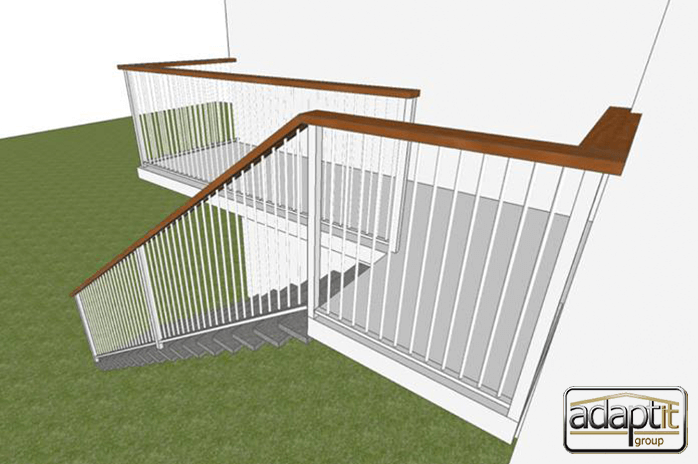 stairs and deck designs in 3d
