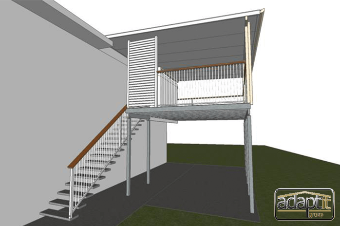 3d verandah and patio designs from side view