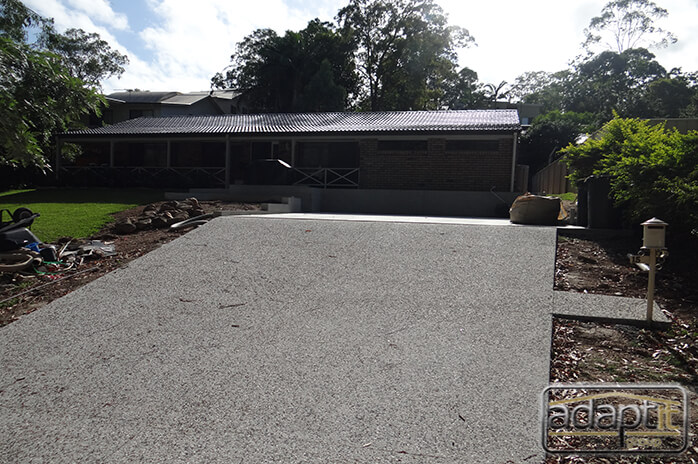 driveway and slab prior to carport build in brisbane