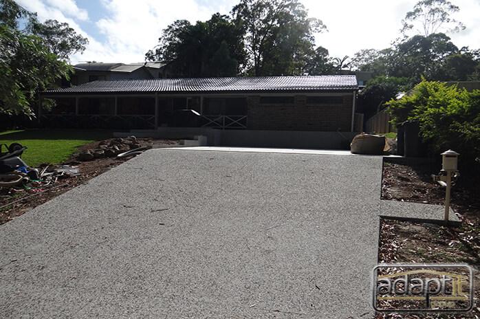 driveway and slab prior to carport build in brisbane