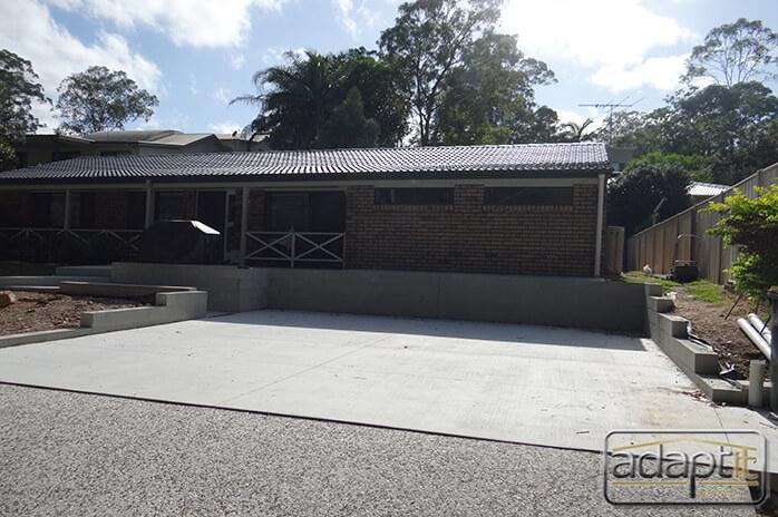 concrete slab prior to carport build
