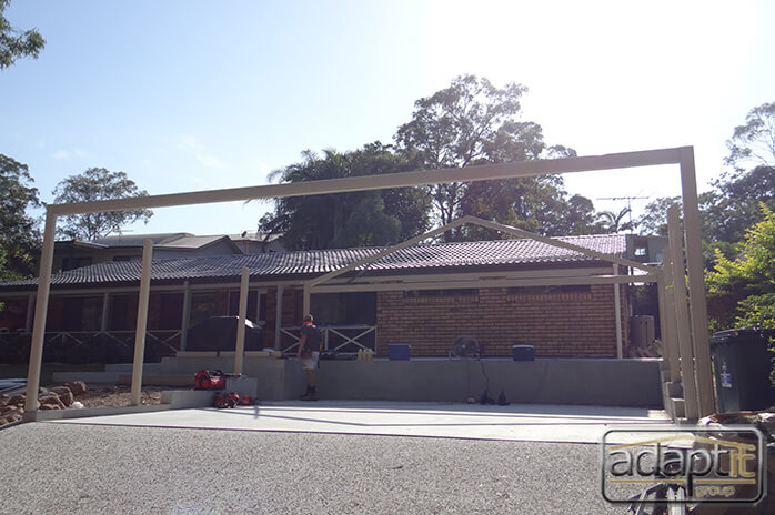 double carports under construction in brisbane