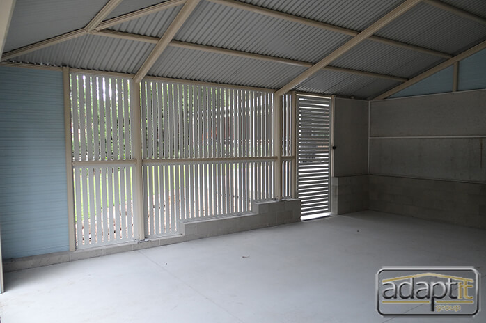 interior of carport by adaptit