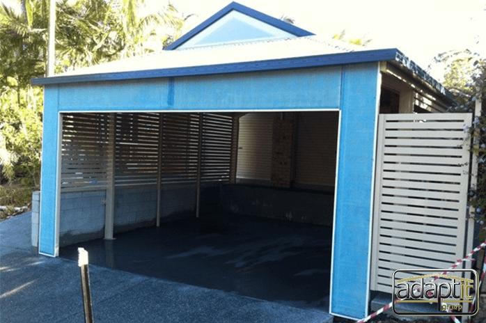 Blue Dutch Gable Carport
