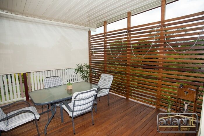 Patio deck and roller blinds brisbane