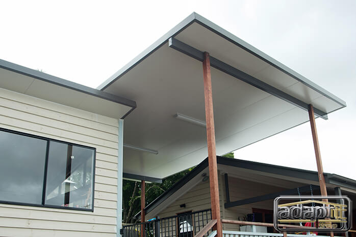 white and grey patio roofing brisbane