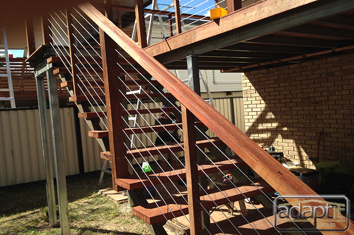 stairs and hand rails under construction