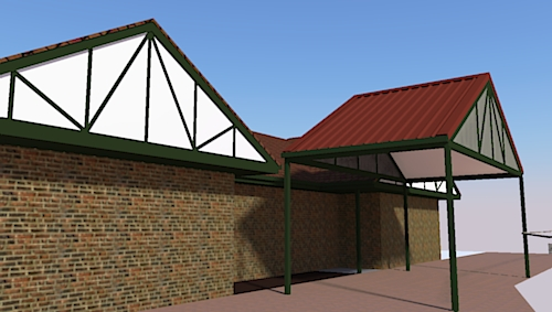 render 3d carport design