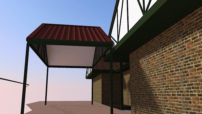 render 3d carports design