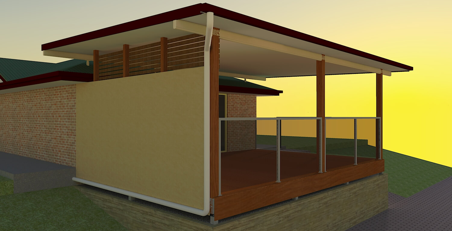 render 3d patio pics
