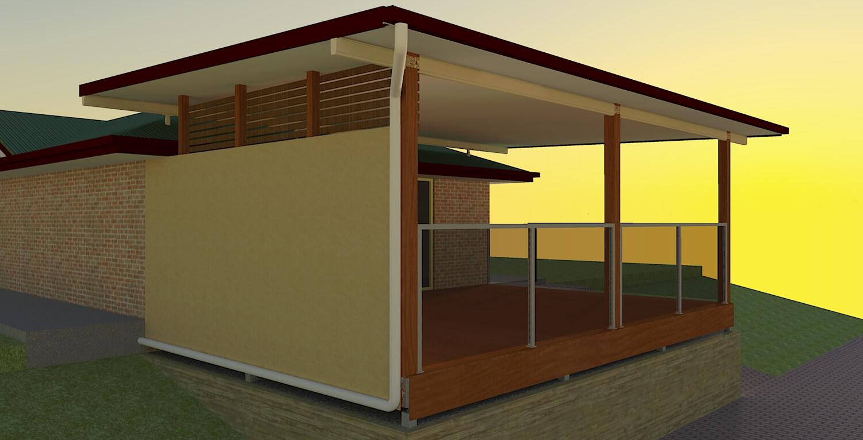 render 3d patio pics