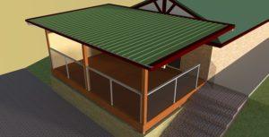 render 3d outdoor patios