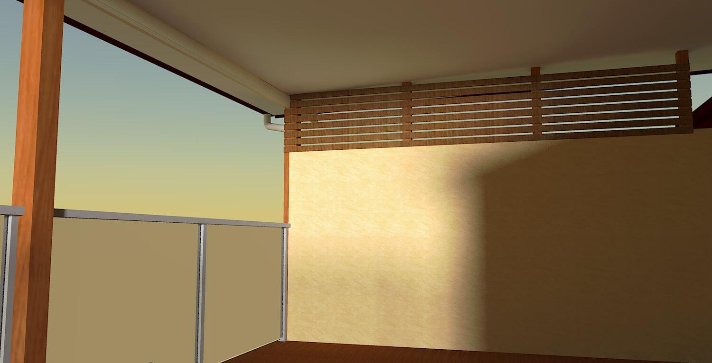 render 3d patio design