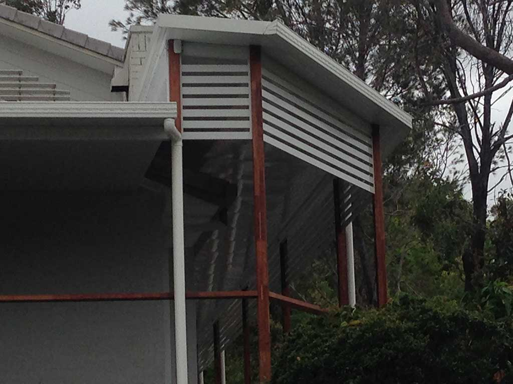 New Patio on Brisbane Northside Aluminium Slats for Weather protection