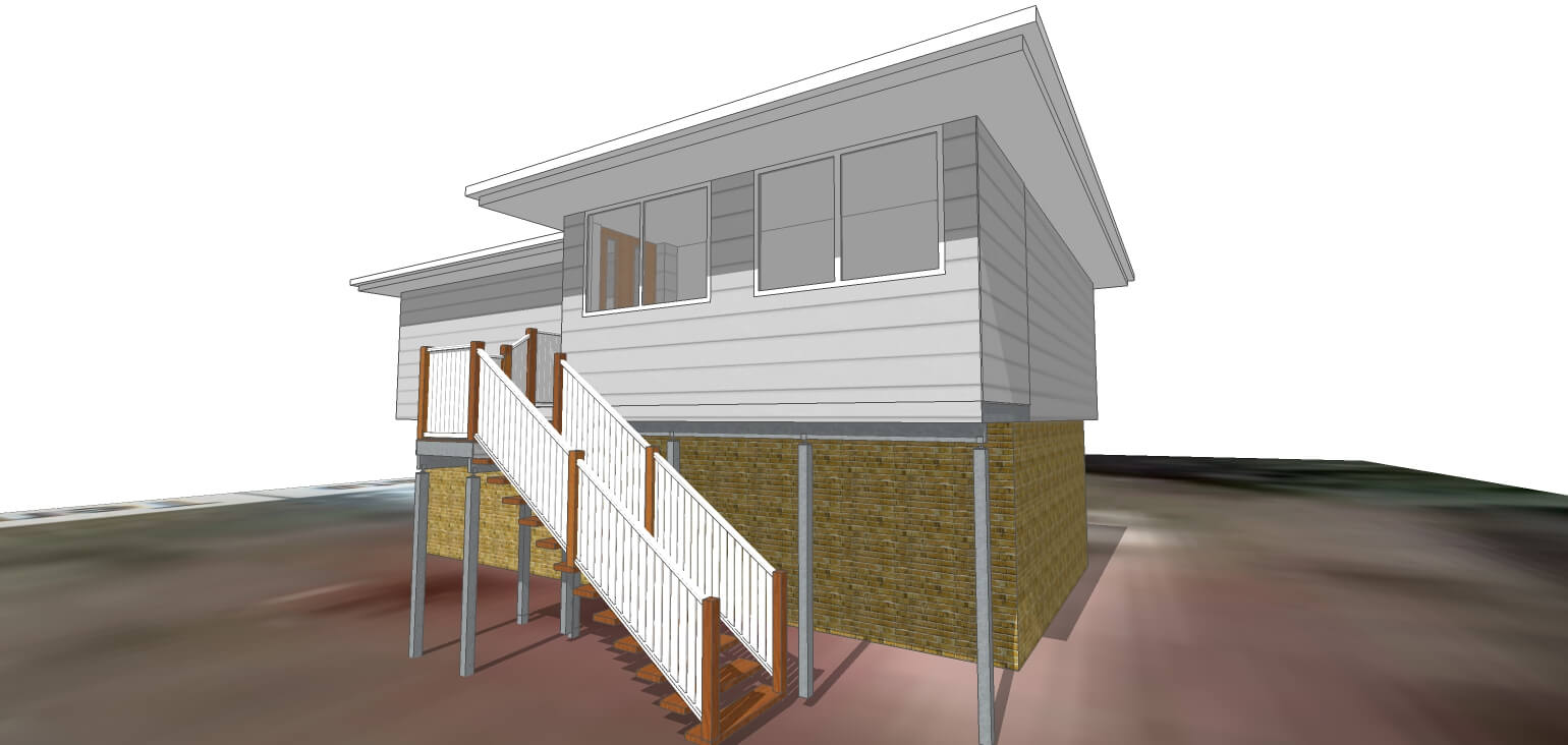 new stairs and verandah 3D model
