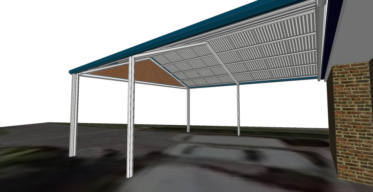 3D Model of carport brisbane