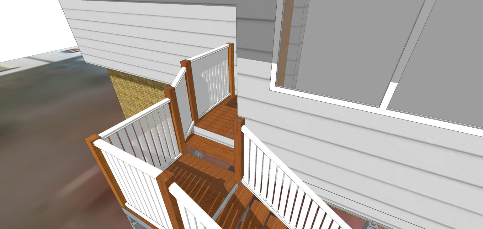 3D Model of outdoor area stairs