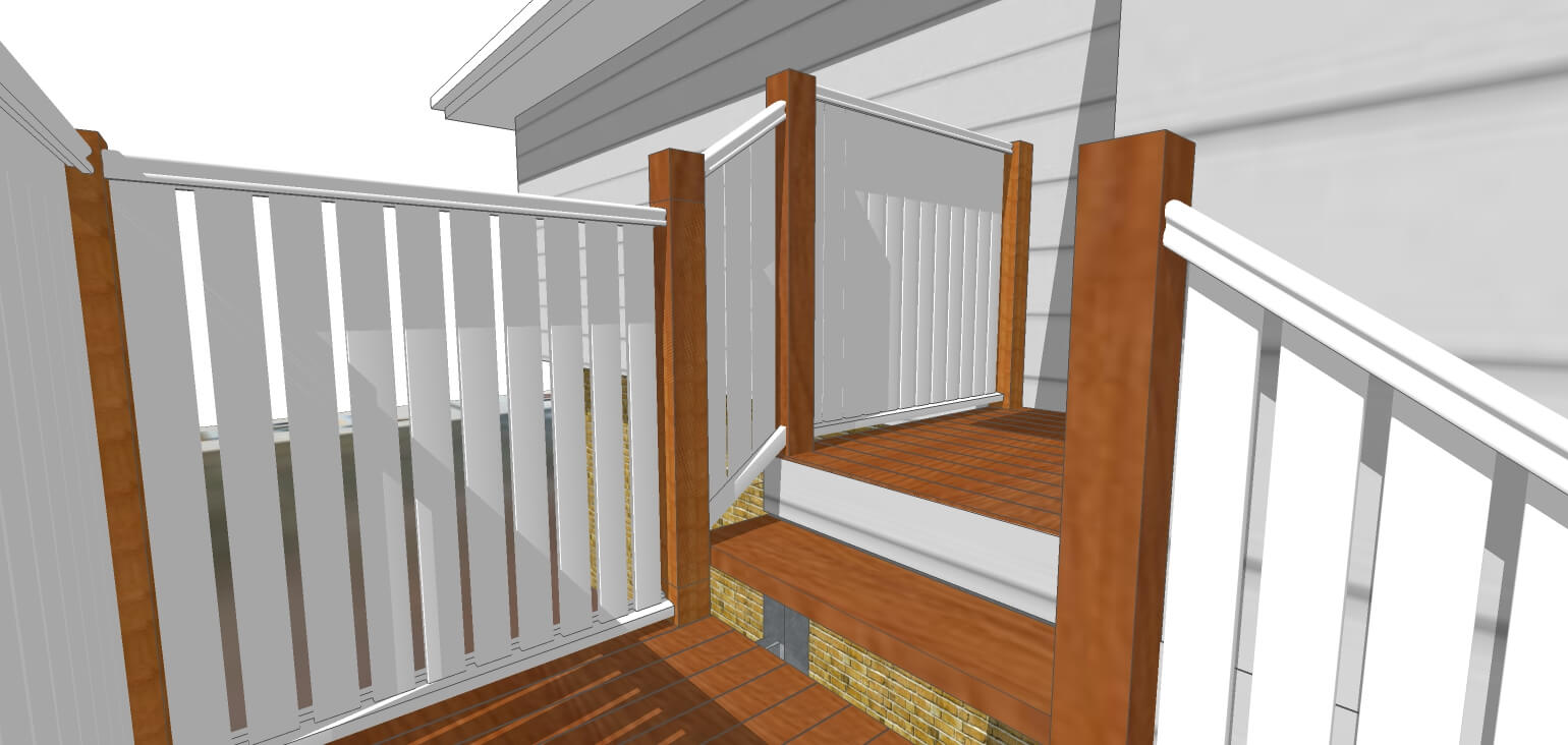 3D Model of verandah design