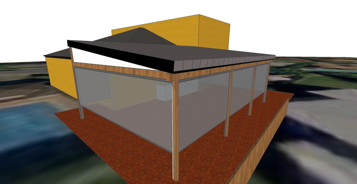 3d model of patio