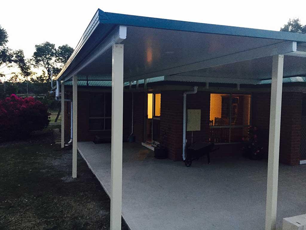 Flyover patio at dusk