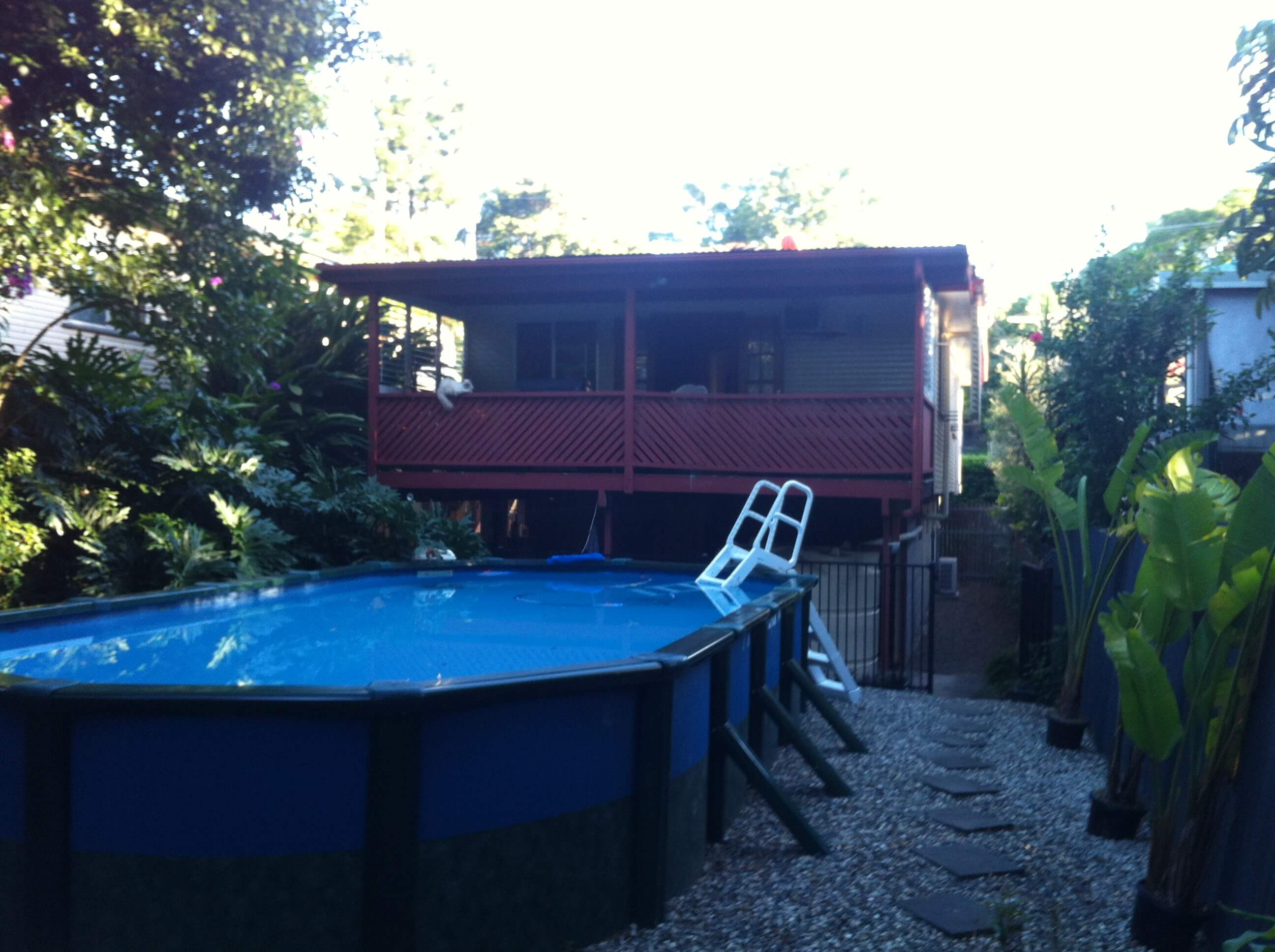 Above Ground Pool gets a Facelift. Amazing Modwood Deck by Adaptit! Pre Build 20