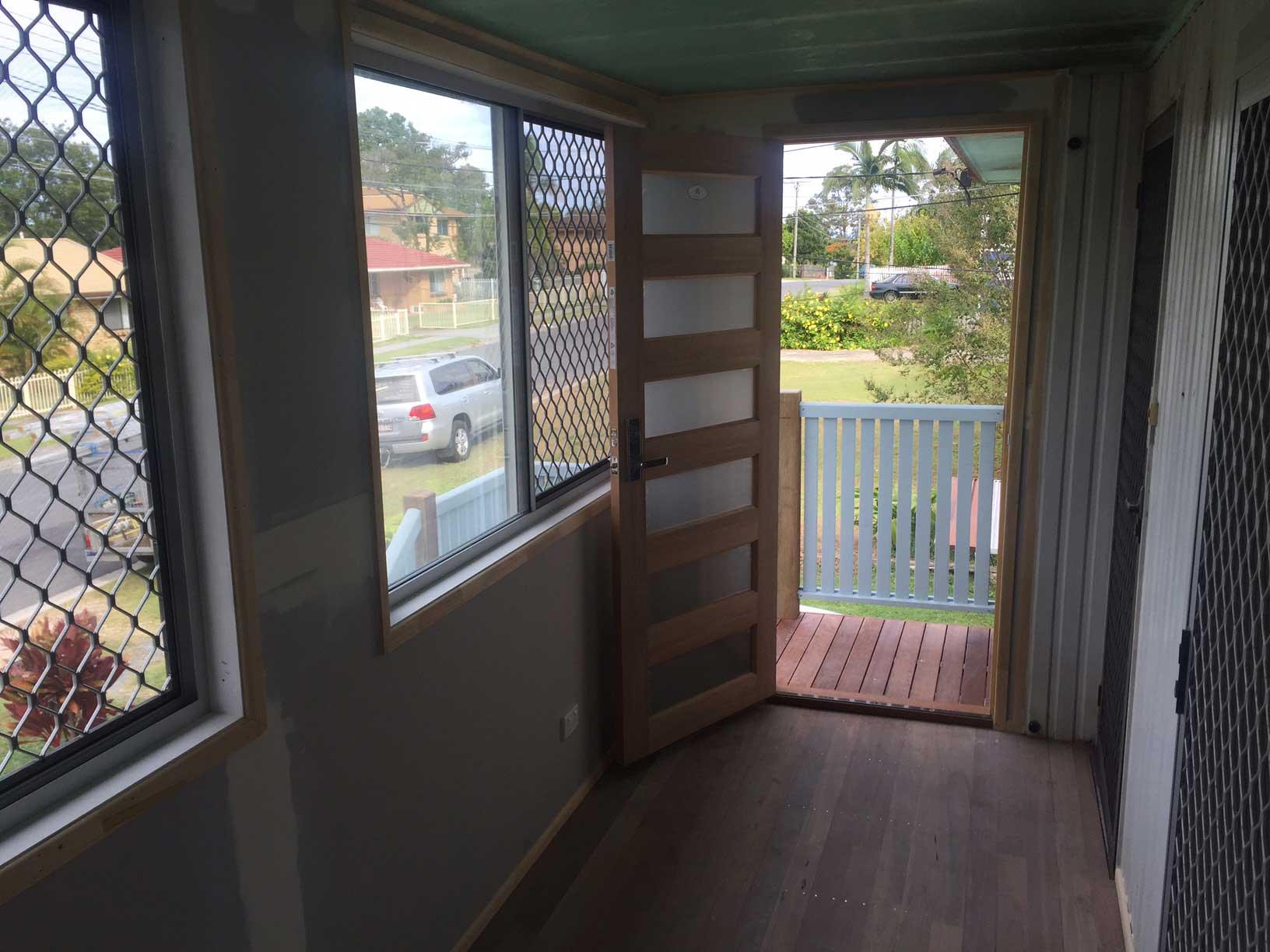 new front verandah and entrance