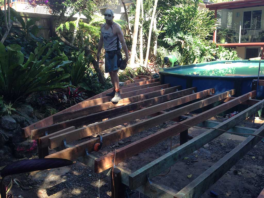 building a new pool deck in Brisbane
