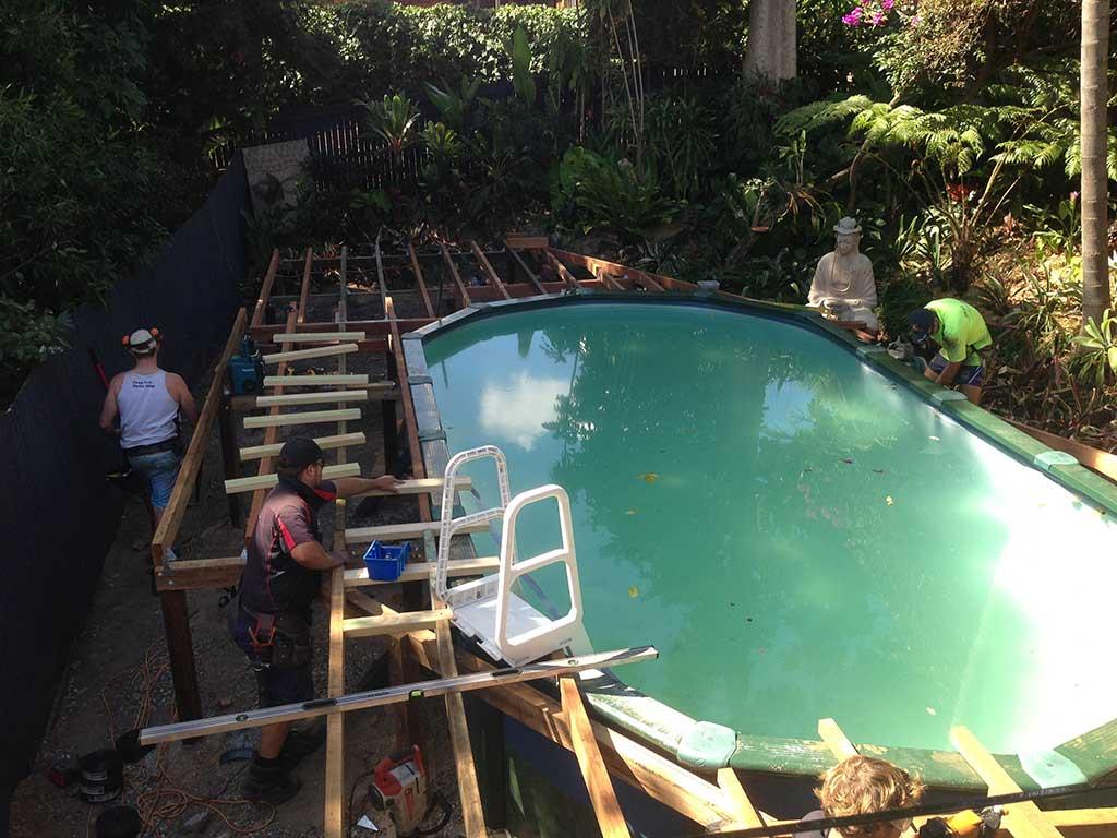 deck in Brisbane during build