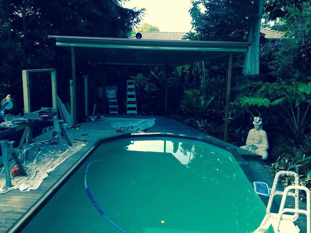 patio and pool deck brisbane in progress