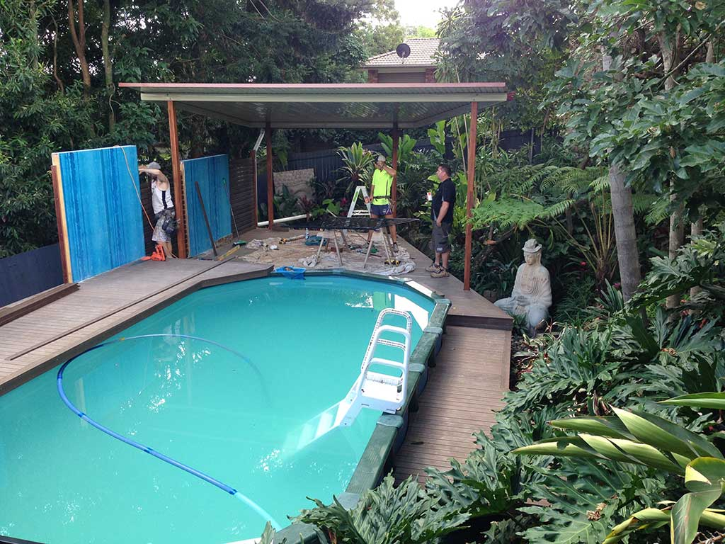 Patio and pool decking build