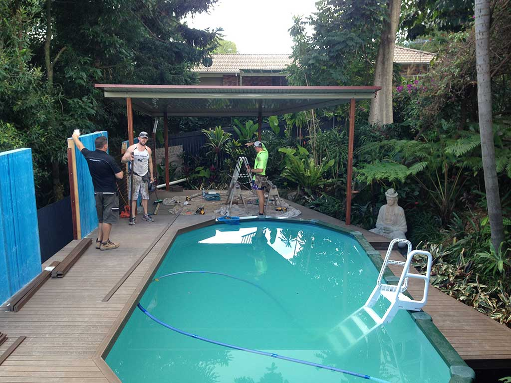 patio and decking Brisbane above ground pool