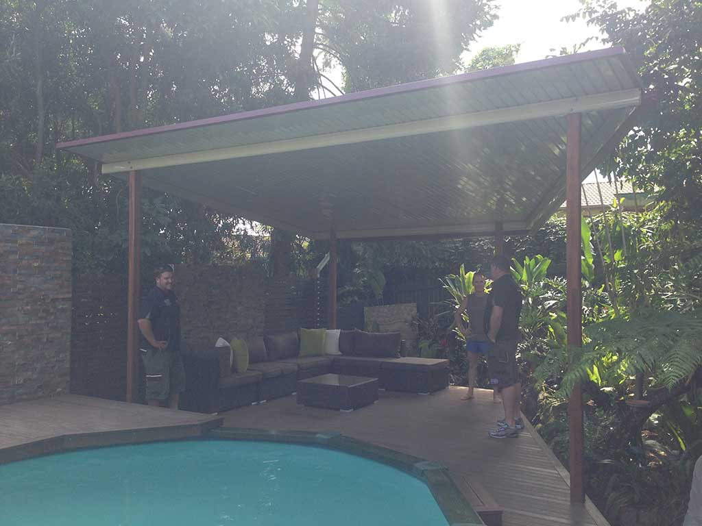 outdoor patio and pool deck Brisbane