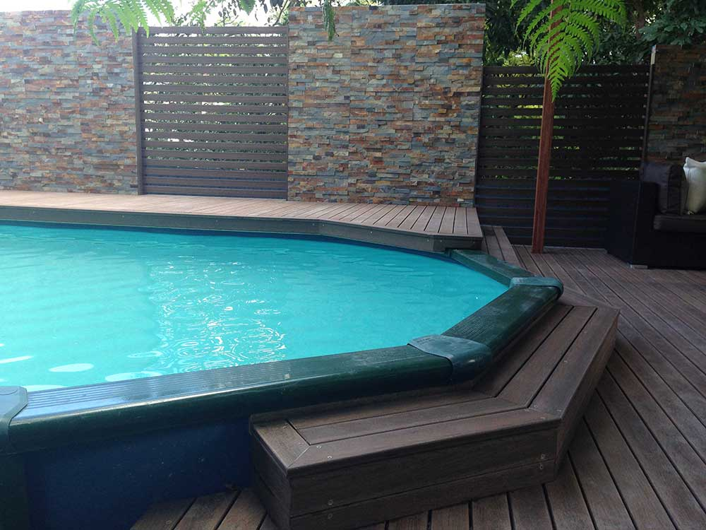 Above Ground Pool gets a Facelift.  Amazing Modwood Deck by Adaptit!