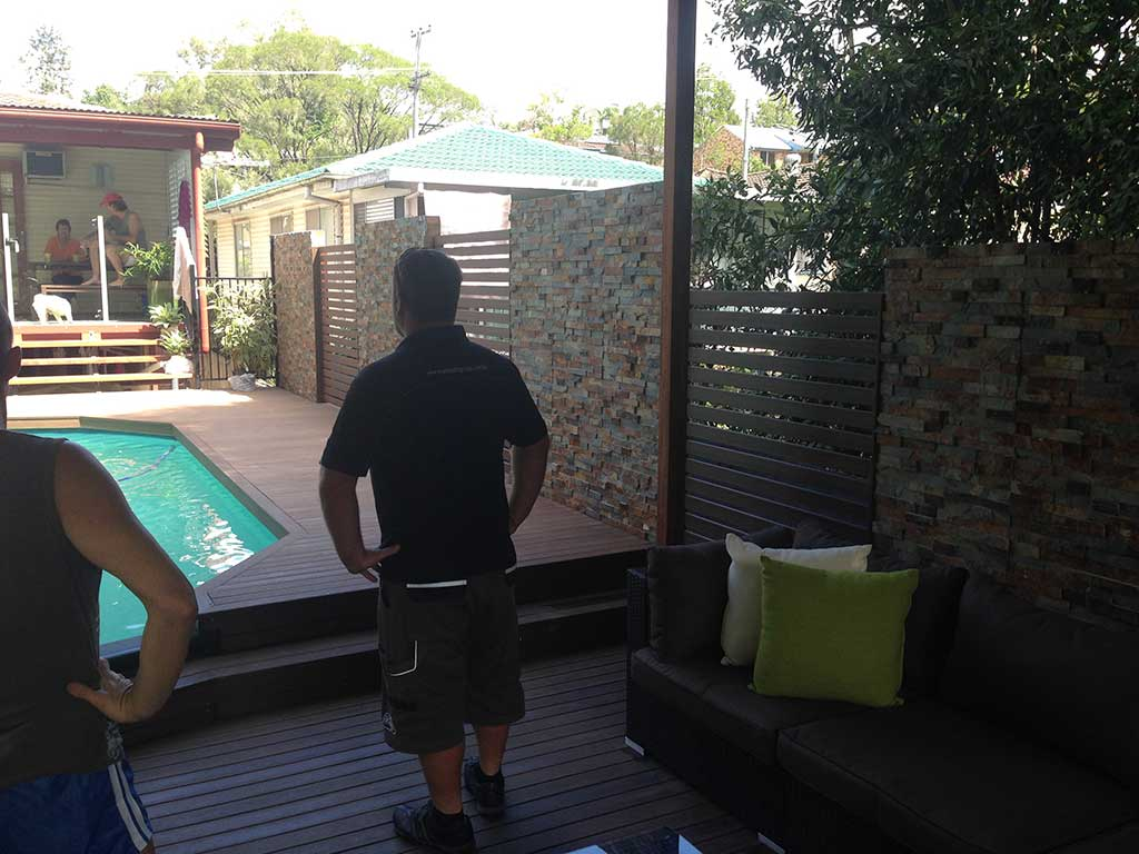 completed deck and patio by Adaptit