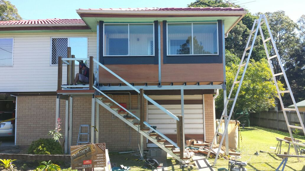 rebuilding verandah with new decking brisbane