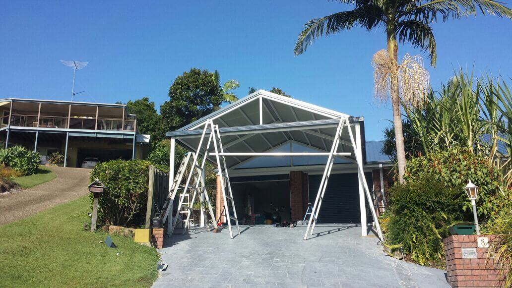 carport build in Brisbane