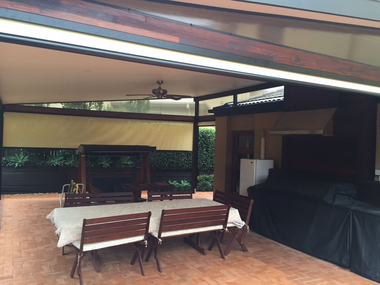 new patio enclosures Brisbane with blinds