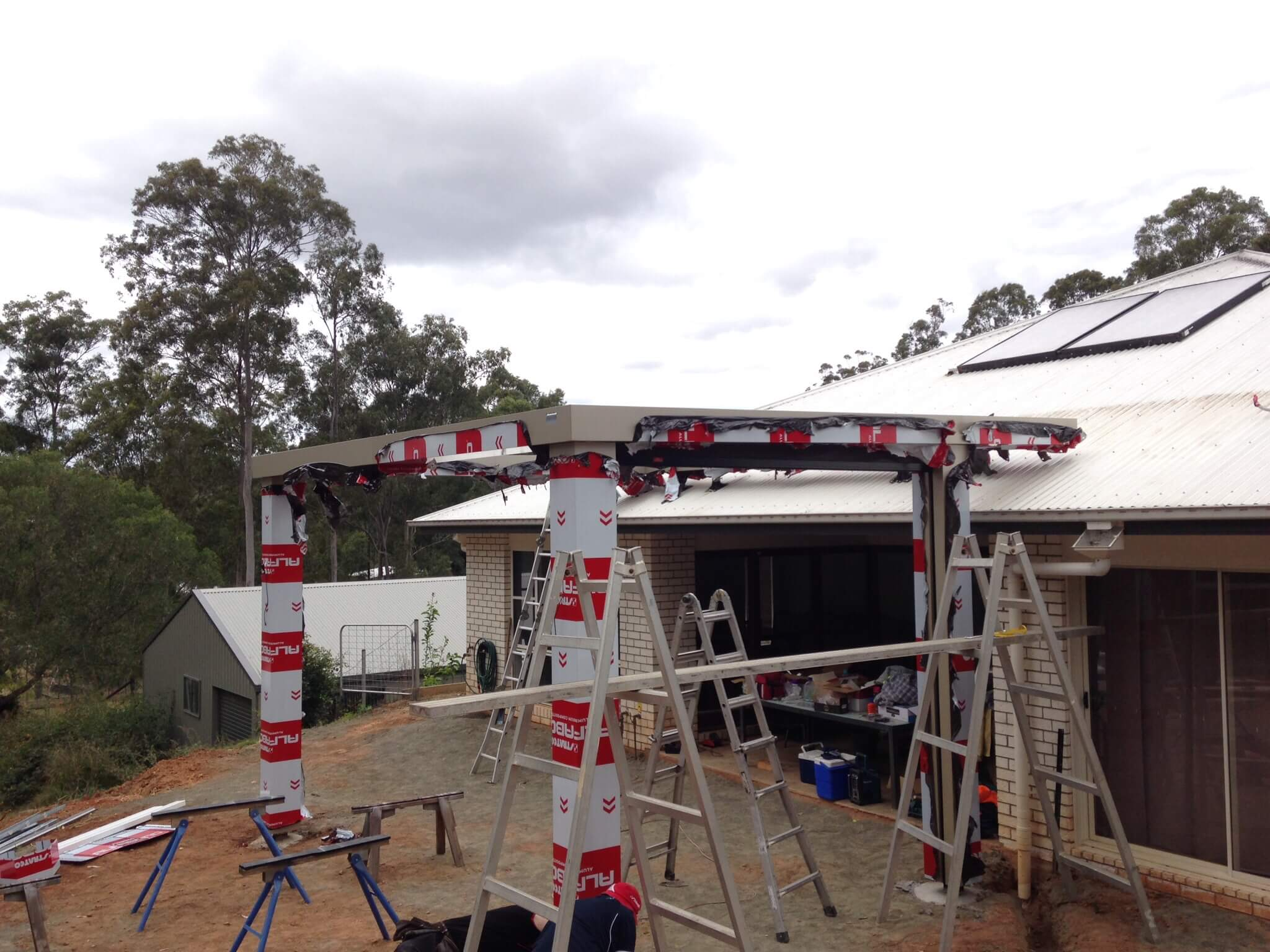 Adaptit carport builders Brisbane job in progress