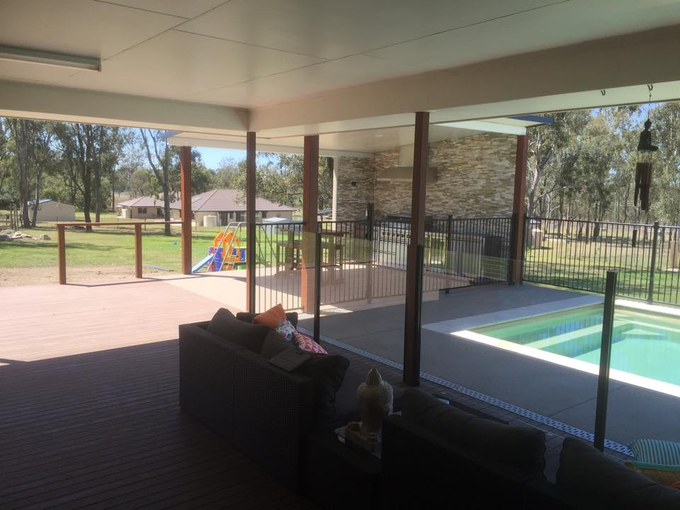 Ground Level Deck With Pool