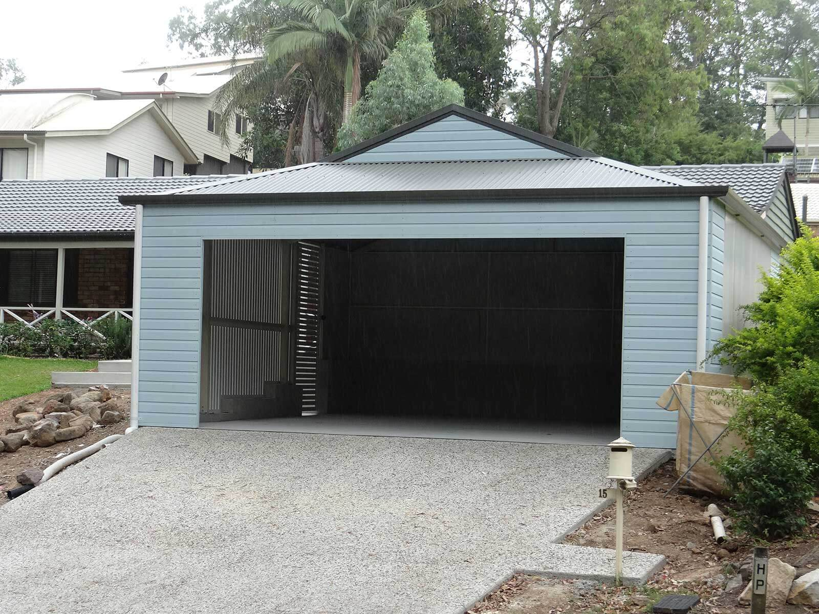 Dutch Gable Blue Design Carport