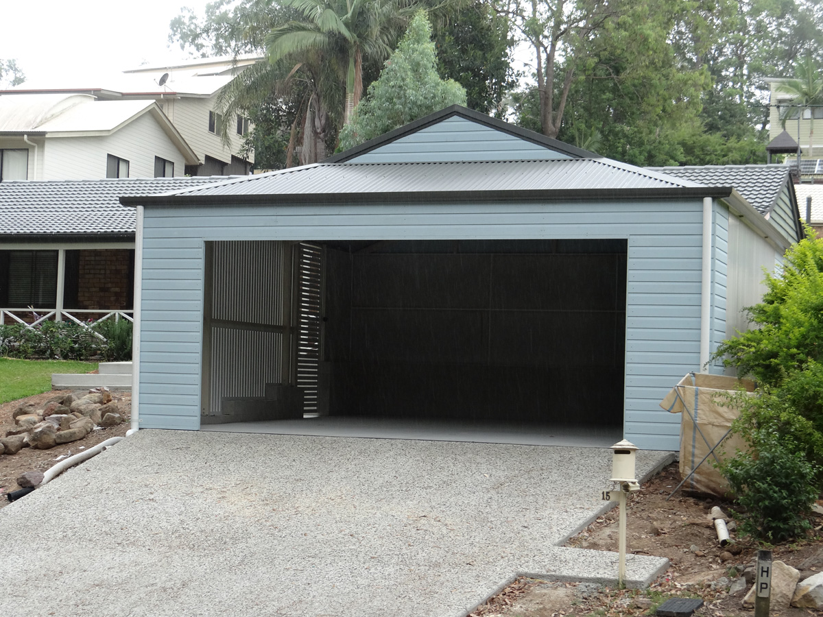 Blue Dutch Gable Carport Brisbane