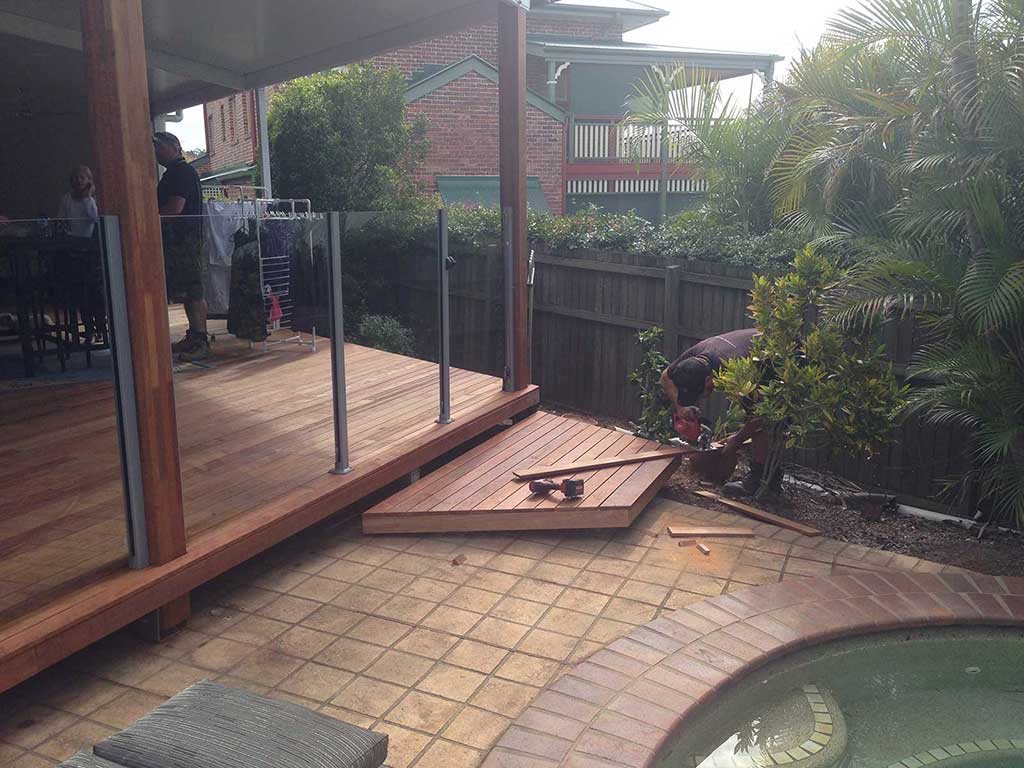 Floating Deck by Pool