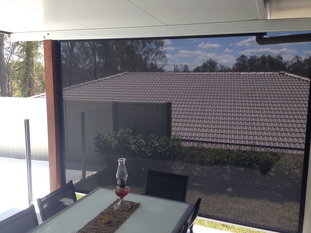 Outdoor Patio Roller Screen Brisbane